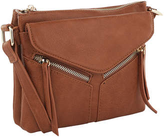 MKF Collection by Mia K. Women's Crossbodies Brown - Brown Envelope Crossbody Bag