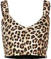 River Island Womens Brown leopard print bralet