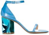 Maison Margiela metallic heel sandals