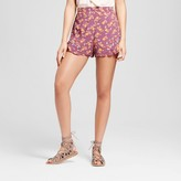 Xhilaration Women's Embroidered Printed Shorts Juniors')