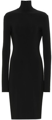 Norma Kamali Stretch jersey turtleneck dress
