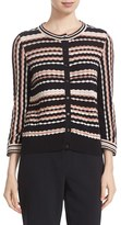 Kate Spade Women's Scallop Stripe Cotton Blend Cardigan