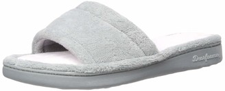 Dearfoams Women's Alice Colorblocked Microfiber Terry Slide Slipper