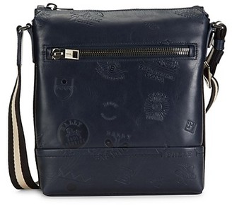 Bally Trezzini Embossed Leather Crossbody Bag