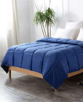 Cheer Collection Down Alternative Striped King Comforter