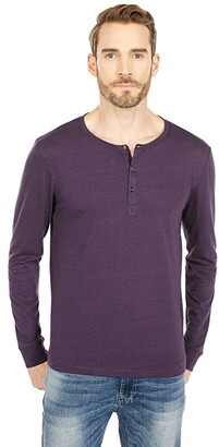 Threads 4 Thought Tri-Blend Long Sleeved Henley (Dark Spruce) Men's Clothing