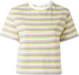 Julien David striped cropped T-shirt - women - Cotton - S