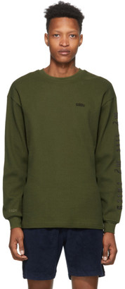 032c Green Embroidered Logo Long Sleeve T-Shirt