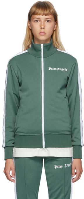 Palm Angels Green Classic Track Jacket