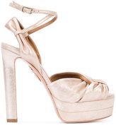 Aquazzura knot strap sandals - women - Leather - 35.5