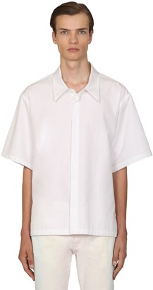 Maison Margiela Heavy Cotton Poplin Short Sleeve Shirt