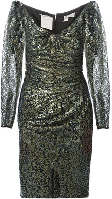 Emanuel Ungaro Pre Owned Sequin And Lace Dress