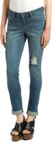 Earl Jean Blue Medium Wash Distressed Skinny Jeans