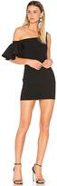 Saloni Greta Short Dress in Black. - size 0 (also in )