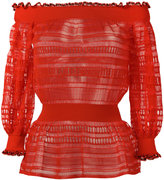 Alexander McQueen lace knit top