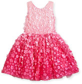 Zoë Ltd Sleeveless 3D Floral Tulle Dress, Pink, Size 2T-6X