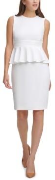 Calvin Klein Peplum Sheath Dress