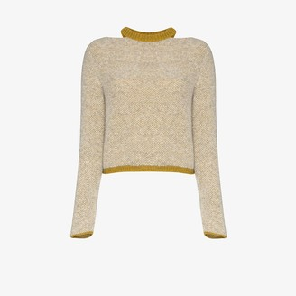 Eckhaus Latta Two Tone Cutout Sweater
