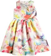 Simonetta Floral Printed Satin Dress