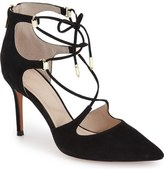Marc Fisher 'Toni' Lace-Up Pointy Toe Pump (Women)