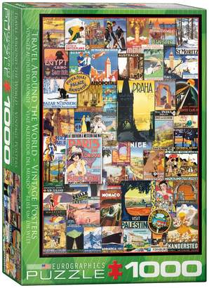 Eurographics Travel Around the World 1000-Piece Jigsaw Puzzle Set