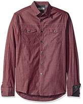 Kenneth Cole Reaction Men's Long Sleeve Military Chambray Shirt