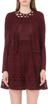 Sandro Open-embroidered knitted cardigan