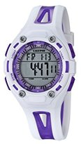 Calypso Unisex Digital Watch with LCD Dial Digital Display and White Plastic Strap K5666/2