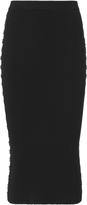 Thierry Mugler Embellished Rib Knit Pencil Skirt