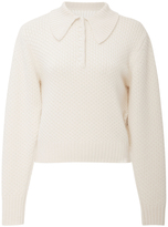 Frame Collared Cableknit Pullover