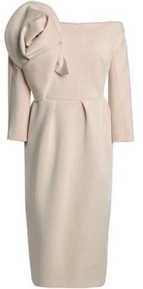 DELPOZO Off-the-shoulder Gathered Ponte Dress