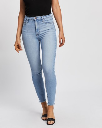 Nobody Denim Women's Blue High-Waisted - Siren Skinny Ankle Jeans - Size One Size, 24 at The Iconic