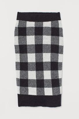 H&M Wool-blend Knit skirt - Black
