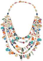 Lauren Ralph Lauren Gold-Tone Multi-Bead Statement Necklace