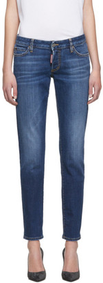 DSQUARED2 Blue Plain Wash Jennifer Jeans