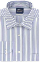 Eagle Men's Classic-Fit Non-Iron Stretch Collar Blue Stripe Dress Shirt