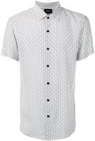 Armani Jeans geometric print shortsleeved shirt - men - Viscose - M