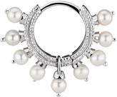 Maria Tash Single 6.5MM White Gold Pearl Coronet Ring