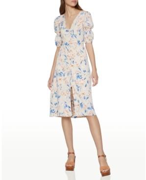BCBGeneration Spring Floral-Print Puff-Sleeve Dress