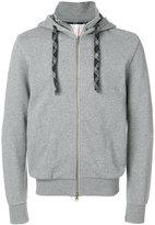 Sun 68 elbow patch zip hoodie