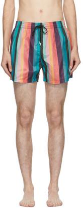 Paul Smith Multicolor Striped Swim Shorts