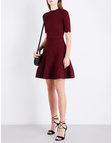 Sandro Scalloped-trim knitted dress