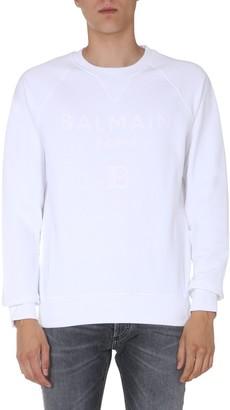 Balmain Logo Crewneck Sweatshirt