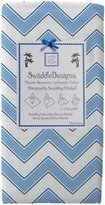 Swaddle Designs Marquisette Chevron Swaddling Blanket - True Blue