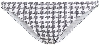 Onia Ashley Houndstooth Textured Low-rise Bikini Briefs