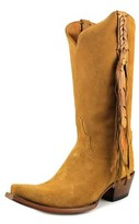 Lucchese Tori Women Pointed Toe Suede Tan Western Boot.