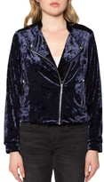 Willow & Clay Women's Velvet Moto Jacket