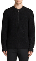 Allsaints Allsaints Vektarr Zip Through Knitted Jumper, Black