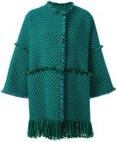 Gianluca Capannolo woven raw edge coat