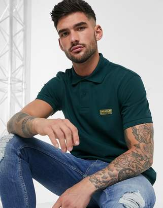 Barbour International Essential logo polo in green